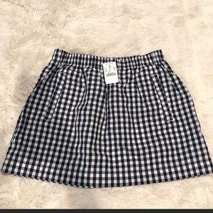 J. Crew Gingham Cotton Skirt